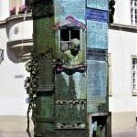 Fontana allegorica nella piazza della cattedrale di Villingen