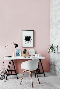 Decorate your work space with your favorite colors.