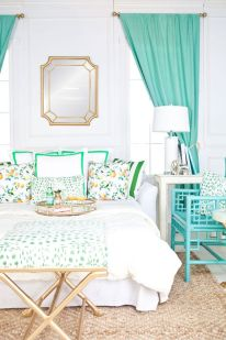 Add a breath of fresh air with light and bright accent colors.