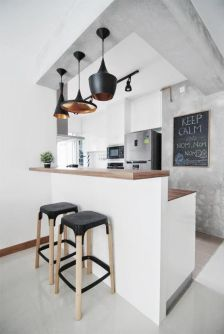 A traditional approach to an industrial kitchen.