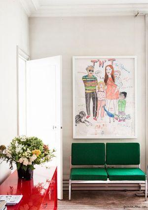 A polished Parisian home.