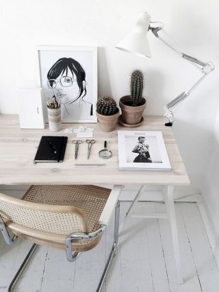 Organize your desk in an orderly fashion.