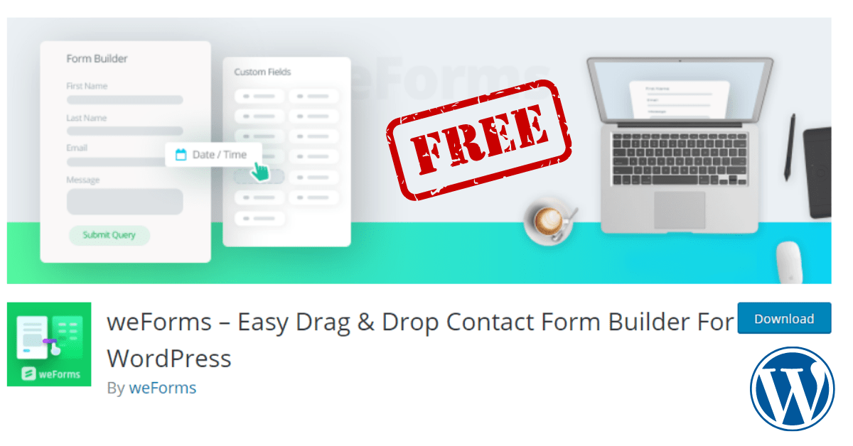 You are currently viewing weForms Nulled Easy Drag, Drop Contact Form Builder Plugin