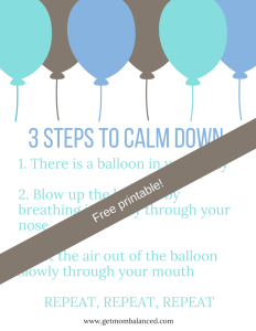 Kids need reminders and help for being able to calm down and control emotions.