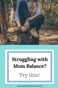 Finding balance as a mom can be tough. There is so much we have on our plates but we shouldn't give up to try and create balance.