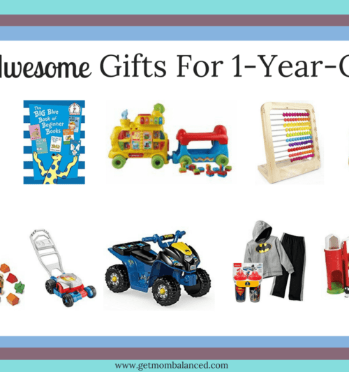 Check out these 10 awesome gifts for one year olds. My second son loves these gifts he received for his first birthday