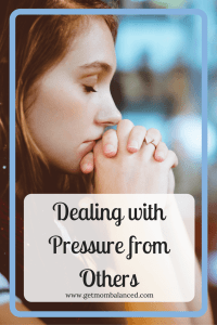 Pressure from others can be hard to deal with. Check out these tips to help you manage the stress you feel from others in your life.
