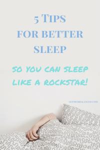 Sleep tips for moms | How to get better sleep | Ideas for improved sleep | Better rest