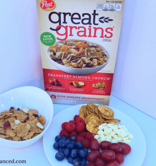 Healthy breakfast for busy moms on-the-go with Great Grains
