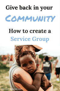 How to give back in your community. Create a service group and use these community service ideas with your kids and family. Be of service with these tips and ideas.