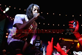 """LOS ANGELES, CA - NOVEMBER 10: Meechy Darko of Flatbush Zombies performs onstage at MTV's """"Wonderland"""" LIVE Show on November 10, 2016 in Los Angeles, California. (Photo by Randy Shropshire/Getty Images for MTV) *** Local Caption *** Meechy Darko"""
