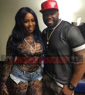 50 Cent & Remy Ma - This one right here is the real deal, I ain't gone hold you up [Photo]
