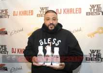 """Music mogul and """"King of Snapchat"""" DJ Khaled hosts a Fan Luv event to announce his collaboration with Palmer's Cocoa Butter, Tuesday, Dec. 13, 2016, in New York. The DJ Khaled x Palmer's Capsule Collection features three DJ Khaled catchphrases, """"We the Best Glow,"""" """"Live Life Smooth"""" and """"They Block,"""" along with DJ Khaled's trademark gold key and signature. (Photo by Diane Bondareff/Invision for Palmer's/AP Images)"""