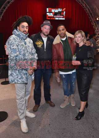 LONDON, ENGLAND - DECEMBER 08: D*Face and Reggie Yates and guests attend The Dean Collection X Bacardi Present No Commission: London>> on December 8, 2016 in London, England. (Photo by David M. Benett/Dave Benett/Getty Images for Getty Images) *** Local Caption *** D*Face; Reggie Yates