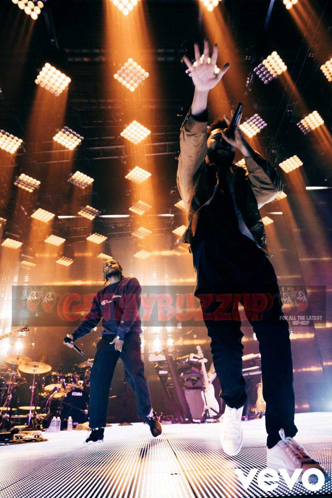 The Weeknd Brings Out Kendrick Lamar at Vevo Presents Show in LA [Photo]