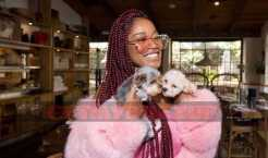 Keke Palmer Rocks All Pink on Her Way to a Shoe Dazzle Luncheon [Photos]