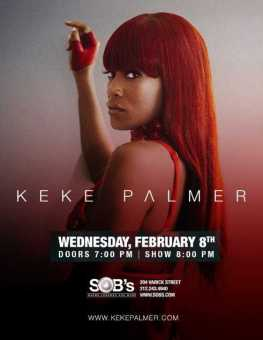 Keke Palmer to Perform Live at SOBS on 02/08/17 For The First Time [Music Events]