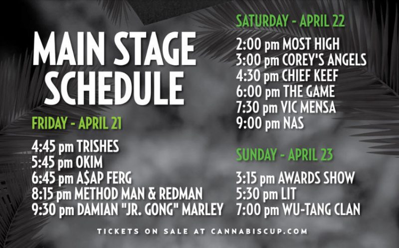 Wu-Tang, Damian Marley, Nas and more to perform at Cannabis Cup this weekend [Events]