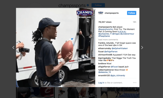 "Quavo shows off his past QB skills in BTS footage from ""The Moment"" [Video]"