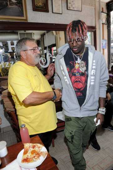 -New York, NY - 8/25/17- Yachty`s Pizzeria -PICTURED: Lil Yachty -PHOTO by: Startraksphoto.com -BDP_9249 Editorial - Rights Managed Image - Please contact www.startraksphoto.com for licensing fee Startraks Photo New York, NY For licensing please call 212-414-9464 or email sales@startraksphoto.com Image may not be published in any way that is or might be deemed defamatory, libelous, pornographic, or obscene. Please consult our sales department for any clarification or question you may have. Startraks Photo reserves the right to pursue unauthorized users of this image. If you violate our intellectual property you may be liable for actual damages, loss of income, and profits you derive from the use of this image, and where appropriate, the cost of collection and/or statutory damages.