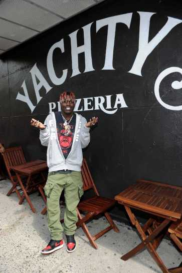 -New York, NY - 8/25/17- Yachty`s Pizzeria -PICTURED: Lil Yachty -PHOTO by: Startraksphoto.com -BDP_9340 Editorial - Rights Managed Image - Please contact www.startraksphoto.com for licensing fee Startraks Photo New York, NY For licensing please call 212-414-9464 or email sales@startraksphoto.com Image may not be published in any way that is or might be deemed defamatory, libelous, pornographic, or obscene. Please consult our sales department for any clarification or question you may have. Startraks Photo reserves the right to pursue unauthorized users of this image. If you violate our intellectual property you may be liable for actual damages, loss of income, and profits you derive from the use of this image, and where appropriate, the cost of collection and/or statutory damages.
