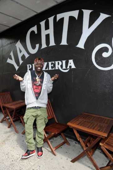 -New York, NY - 8/25/17- Yachty`s Pizzeria -PICTURED: Lil Yachty -PHOTO by: Startraksphoto.com -BDP_9341 Editorial - Rights Managed Image - Please contact www.startraksphoto.com for licensing fee Startraks Photo New York, NY For licensing please call 212-414-9464 or email sales@startraksphoto.com Image may not be published in any way that is or might be deemed defamatory, libelous, pornographic, or obscene. Please consult our sales department for any clarification or question you may have. Startraks Photo reserves the right to pursue unauthorized users of this image. If you violate our intellectual property you may be liable for actual damages, loss of income, and profits you derive from the use of this image, and where appropriate, the cost of collection and/or statutory damages.