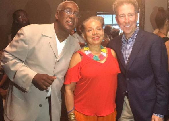 from left to right: Curtis Symonds (MOBE 2017 Chair), Yvette Moyo (Founder & President, MOBE) and Patrick Esser, President Cox Communications