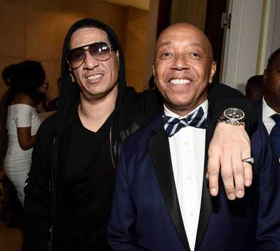 Kid Capri and Russell Simmons arrive at Def Comedy Jam 25, A Netflix Original Comedy Event, in Beverly Hills on Sunday September 10th.