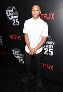DeRon Horton arrives at Def Comedy Jam 25, A Netflix Original Comedy Event, in Beverly Hills on Sunday September 10th.