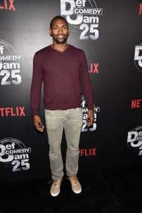 Metta World Peace arrives at Def Comedy Jam 25, A Netflix Original Comedy Event, in Beverly Hills on Sunday September 10th.