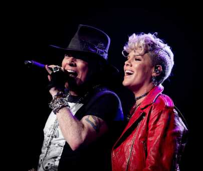 Singer P!NK joins Guns N' Roses on stage at MSG [Photos]