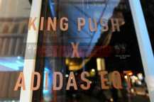 """NEW YORK, NY - OCTOBER 26: An overall general view of atmosphere at the Launch Of Pusha T's Latest Collaboration With adidas Originals, KING PUSH X ADIDAS ORIGINALS EQT """"BODEGA BABIES"""" on October 26, 2017 in New York City. (Photo by Brad Barket/Getty Images for adidas)"""