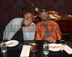 LOS ANGELES, CA - NOVEMBER 02: KG Marquel (L) and BDot attend The MVP Experience Launch Dinner hosted by The House of Remy Martin at Tao on November 2, 2017 in Los Angeles, California. (Photo by Jerritt Clark/Getty Images for Remy Martin)