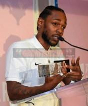 Mandatory Credit: Photo by Stewart Cook/Variety/REX/Shutterstock (9228566g) Kendrick Lamar Variety Hitmakers Brunch, Inside, Los Angeles, USA - 18 Nov 2017