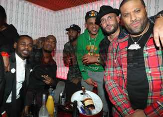 NEW YORK, NY - JANUARY 27: (L-R) Von Smith, Ne-Yo, DJ Drama, DJ Don Cannon and guests attend The House Of Remy Martin Presents The Culture Creators Pre-Grammy Party at Megu New York on January 27, 2018 in New York City. (Photo by Johnny Nunez/Getty Images for Remy Martin)
