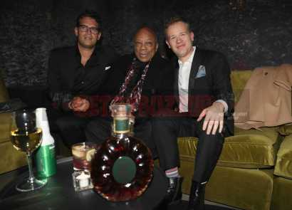 NEW YORK, NY - JANUARY 28: Quincy Jones (C) and guests attend Universal Music Group's 2018 After Party to celebrate the Grammy Awards supported by The House Of Remy Martin at Spring Studios on January 28, 2018 in New York City. (Photo by Johnny Nunez/Getty Images for Remy Martin)