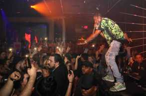 LOS ANGELES, CA - FEBRUARY 16: Travis Scott performs during MVP Weekend with Travis Scott at Avenue Los Angeles presented by Remy Martin on February 16, 2018 in Los Angeles, California. (Photo by Jerritt Clark/Getty Images for Remy Martin)