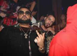 LOS ANGELES, CA - FEBRUARY 18: Nav (L) and French Montana attend the LIV On Sunday For MVP Weekend event At Avenue Los Angeles Hosted By French Montana and presented By Remy Martin on February 18, 2018 in Los Angeles, California. (Photo by Johnny Nunez/Getty Images for Remy Martin)