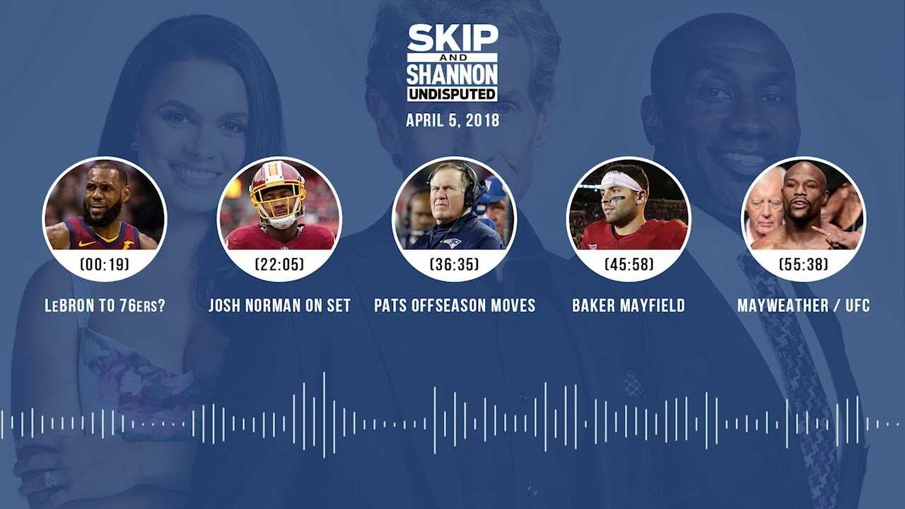 UNDISPUTED Audio Podcast (4.05.18) with Skip Bayless, Shannon Sharpe, Joy Taylor | UNDISPUTED