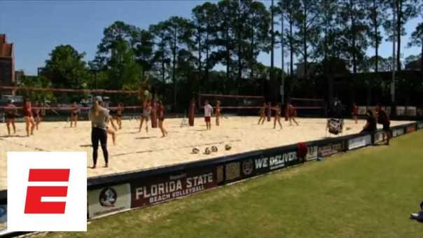 Collegiate beach volleyball players and coaches reflect on growing reach and popularity   espnW