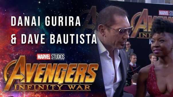 Danai Gurira and DaveBautista Live at the Avengers: Infinity War Premiere