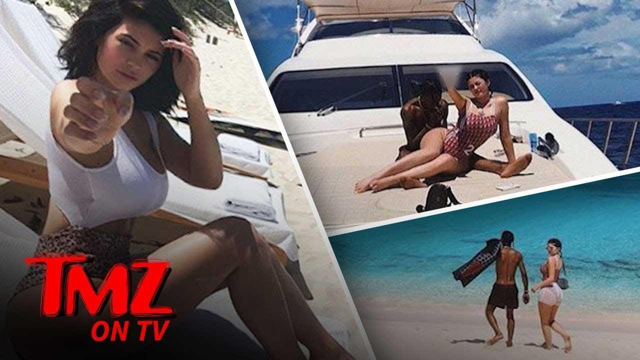 Kylie, Travis, And Baby Stormi Hit The Beach! | TMZ TV