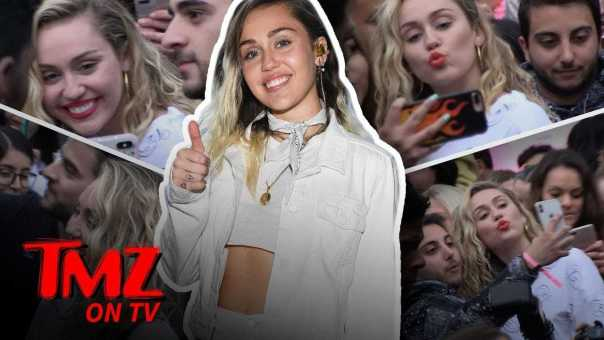 Miley Cyrus Mobbed By Fans! | TMZ TV