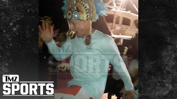 Rob Gronkowski Dances in the Street at Bahamas Carnival