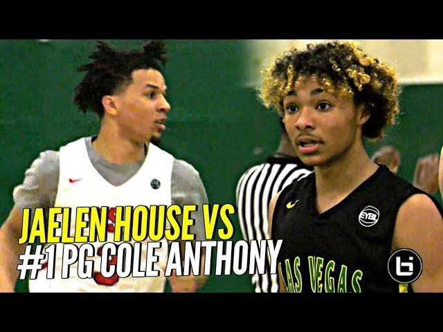 That Shadow Mountain Boy Jaelen House vs #1 PG Cole Anthony!!! ELITE PG Battle at Nike EYBL!