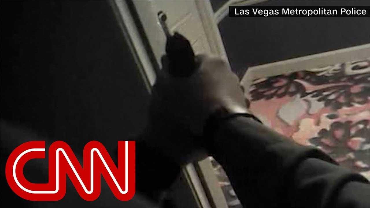 Video shows police enter Vegas killer's room