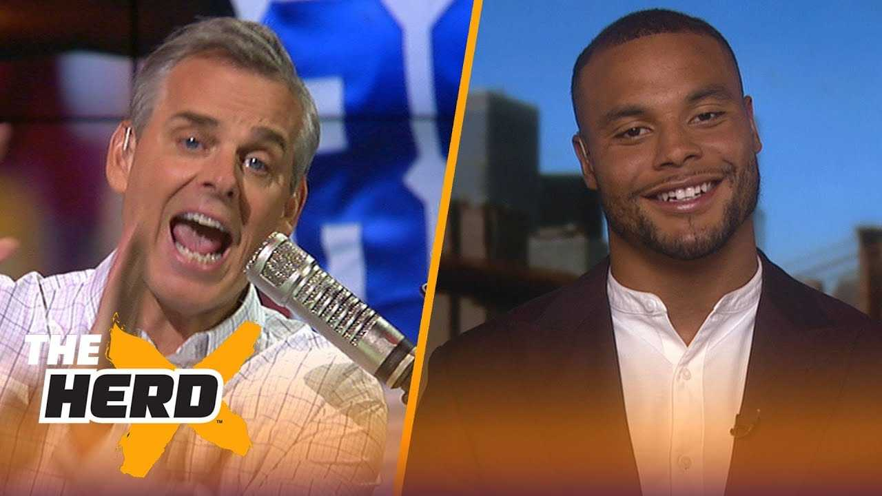 Dak Prescott joins Colin to talk 2018-19 Dallas Cowboys | NFL | THE HERD