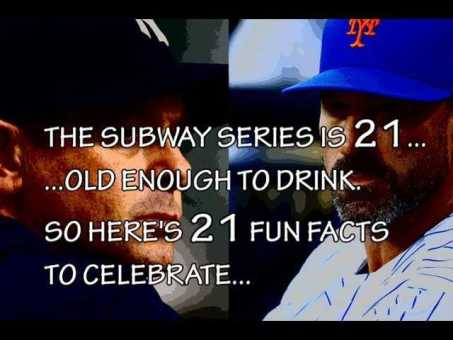 WATCH: 21 Mets and Yankees Subway Series facts in 1 minute