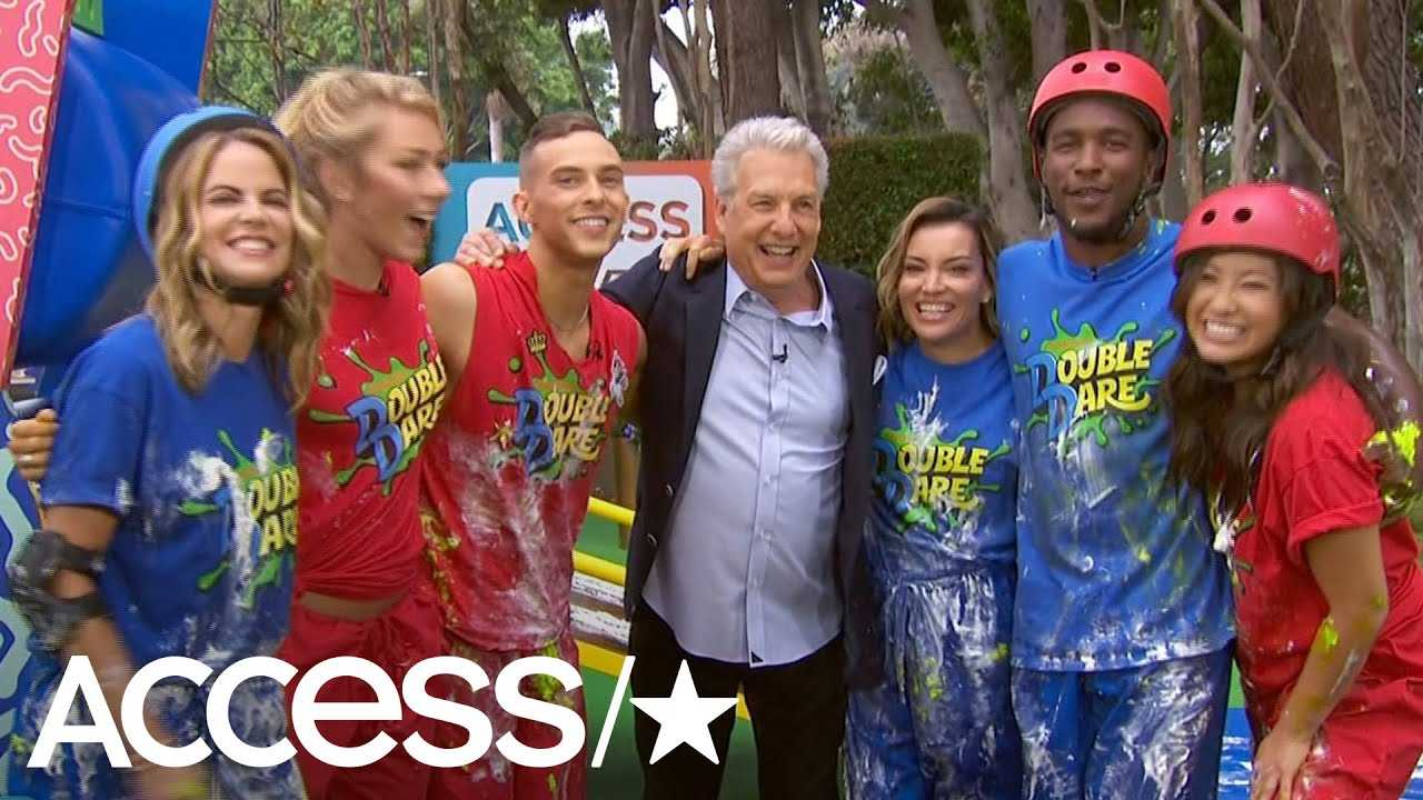 Adam Rippon & Mikaela Shiffrin Take On An Epic 'Double Dare' Obstacle Course!   Access