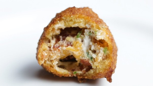 Bacon Cheddar Jalapeño-Stuffed Hush Puppies